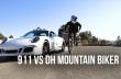 Ποδήλατο DH VS. Porsche 911 GTS