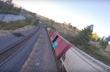 Drone μπαίνει μέσα σε βαγόνι τραίνου