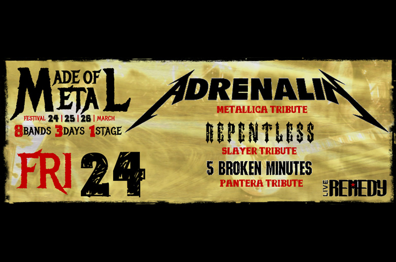 Συναυλία: Made Of Metal Fest: Adrenalin, Repentless, 5 Broken Minutes @ Remedy, Αθήνα