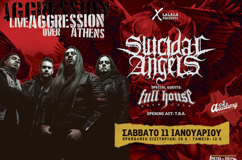 Suicidal Angels | Live Aggression Over Athens | Σάββατο 11 Ιανουαρίου