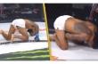 Μαχητής MMA πέφτει στο έδαφος κλαίγοντας μετά από κλωτσιά στη βουβωνική χώρα